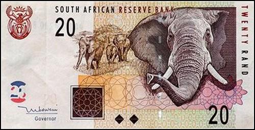 Одно из великих животных Южной Африки. Валюта местная