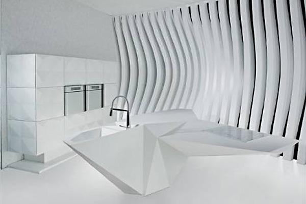 «Остров Оригами»: новый фантастический дизайн кухни от Карима Рашида