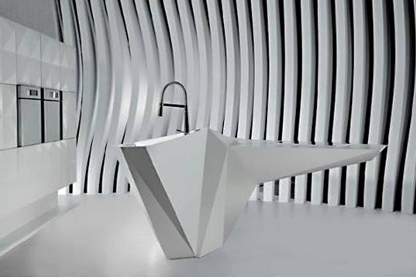 Кухня «Остров Оригами»: новый фантастический дизайн кухни от Карима Рашида