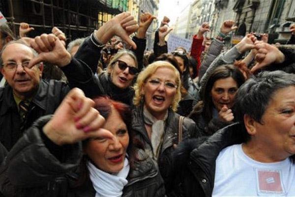 Италия протестует против германской политики